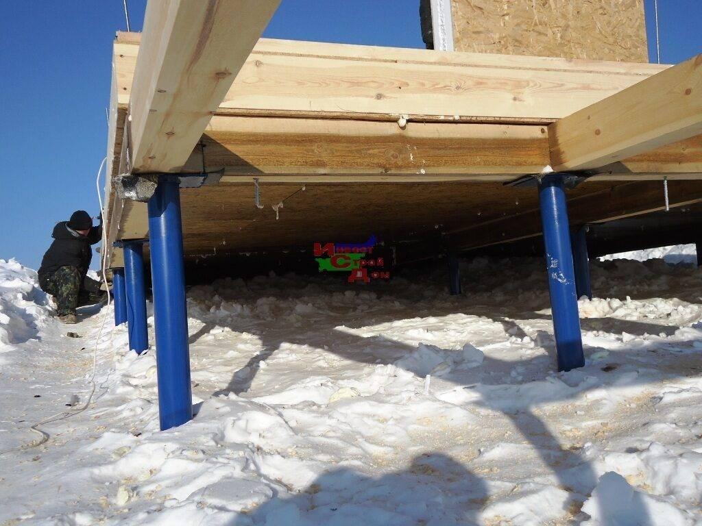 Особенности строительства гаража на свайном фундаменте