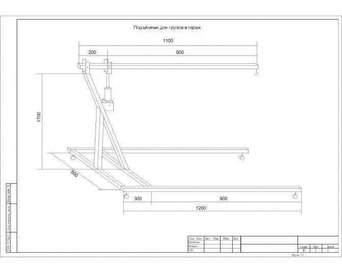 Кран гидравлический для снятия двигателя своими руками: инструкция и чертежи