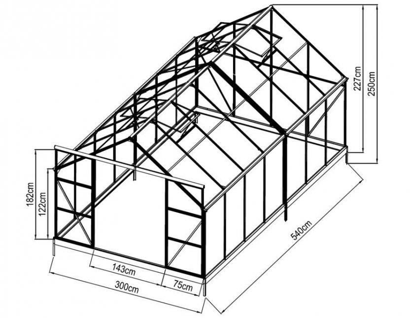 Строим гараж из профильной трубы своими руками