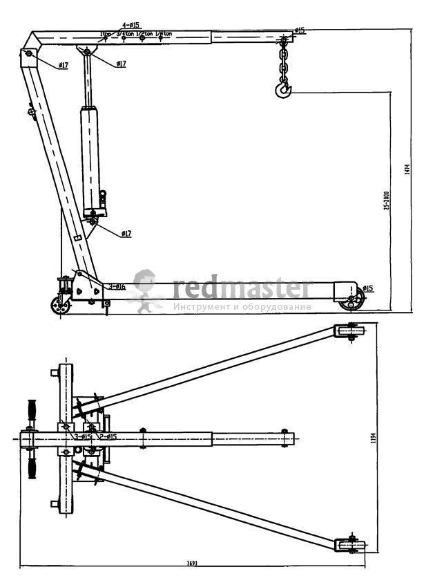 ✅ гаражный кран-гусь своими руками: козловой, чертеж, для снятия двигателя, как сделать, самодельный - tym-tractor.ru