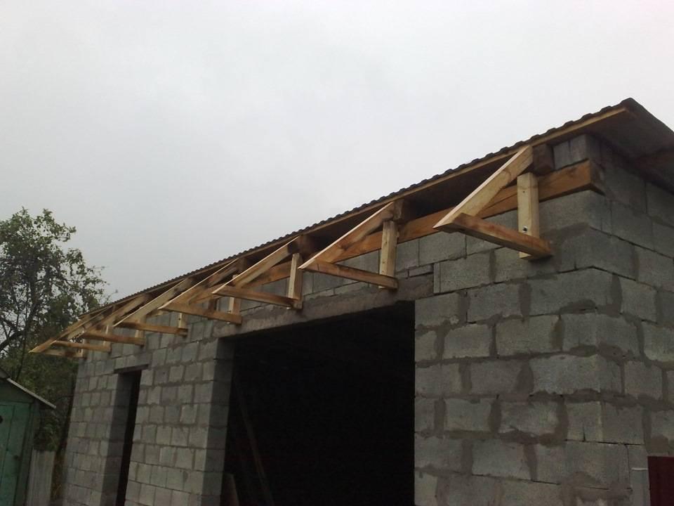 Односкатная крыша для гаража - как сделать пошагово своими руками? виды, устройство и наклон