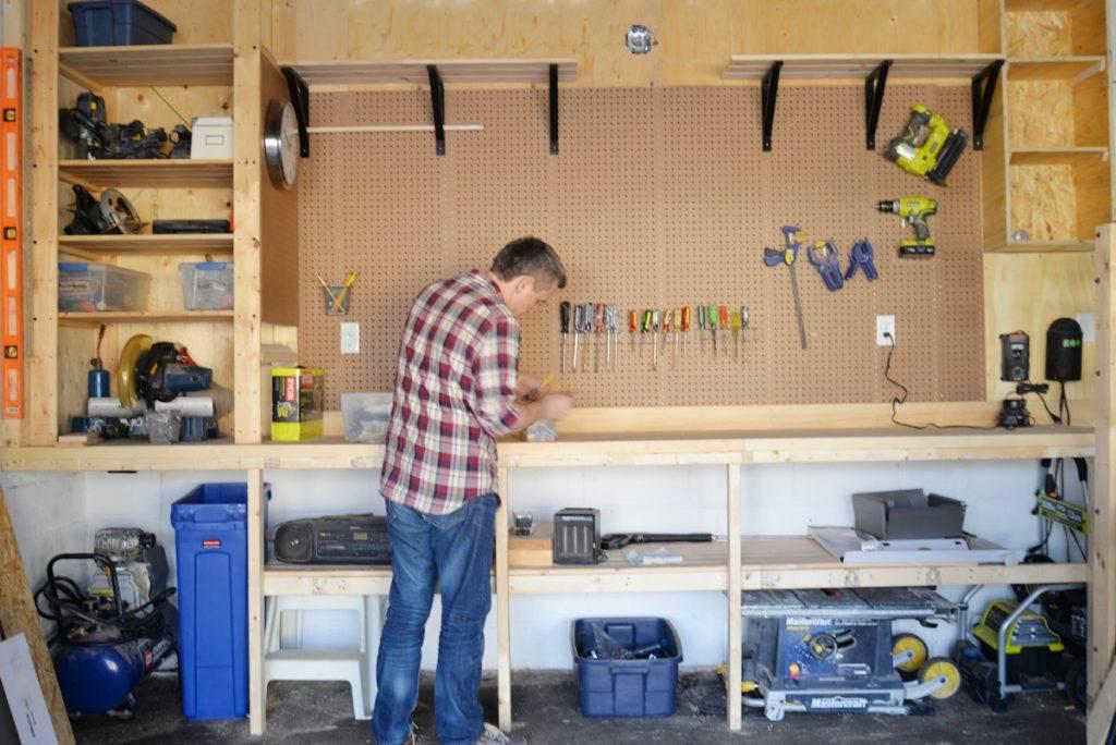 Обустройство гаража под мастерскую