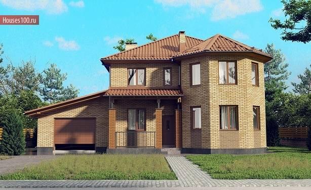 Составляем проекты домов из кирпича с гаражом – на что стоит обратить внимание