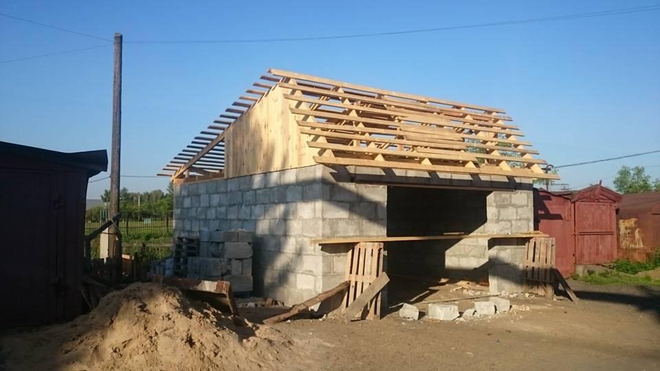 Крыша на гараж двухскатная