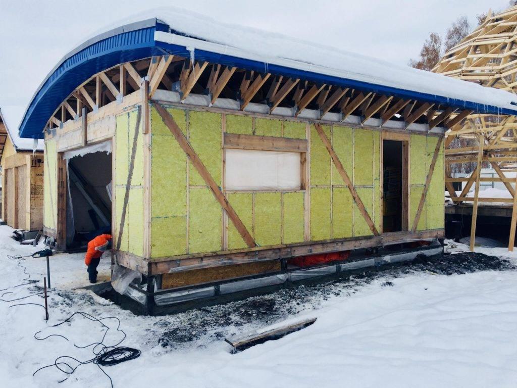 Проект и строительство гаража на винтовых сваях своими руками