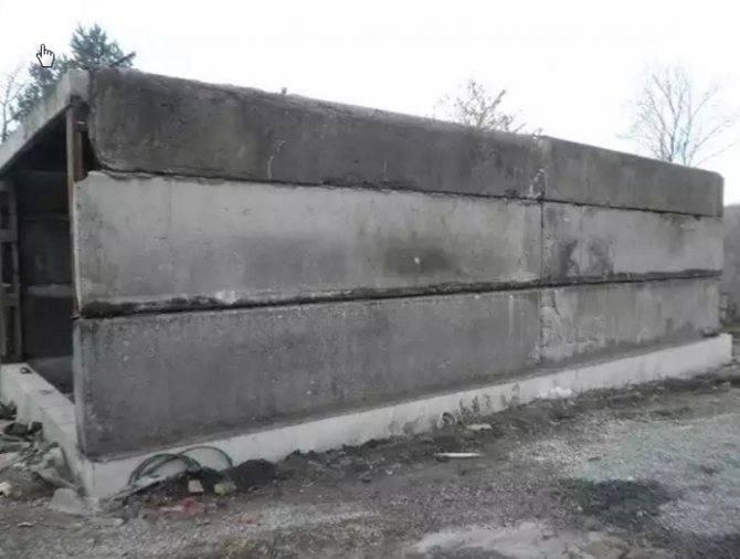 Изготовление гаража из железобетонных плит без проблем!