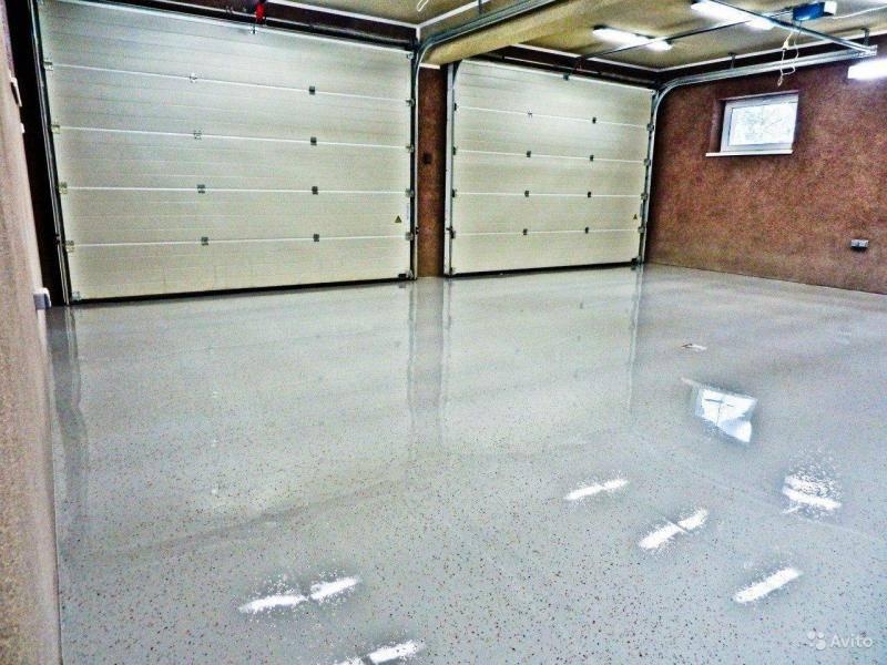 Полимерный наливной пол для гаража какой лучше, минусы, укладка, покупка