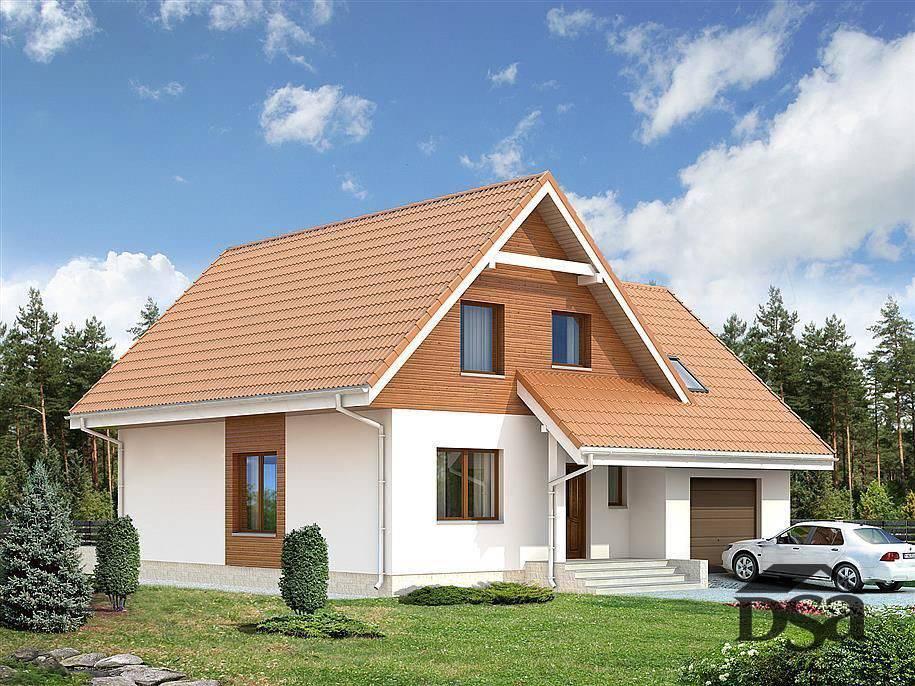 Двухэтажные дома с гаражом – проекты, достоинства, виды