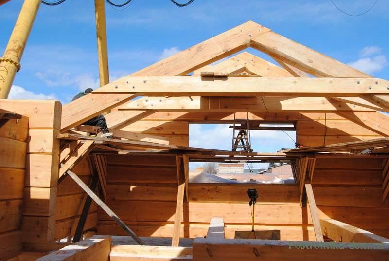 Двухскатная крыша гаража своими руками