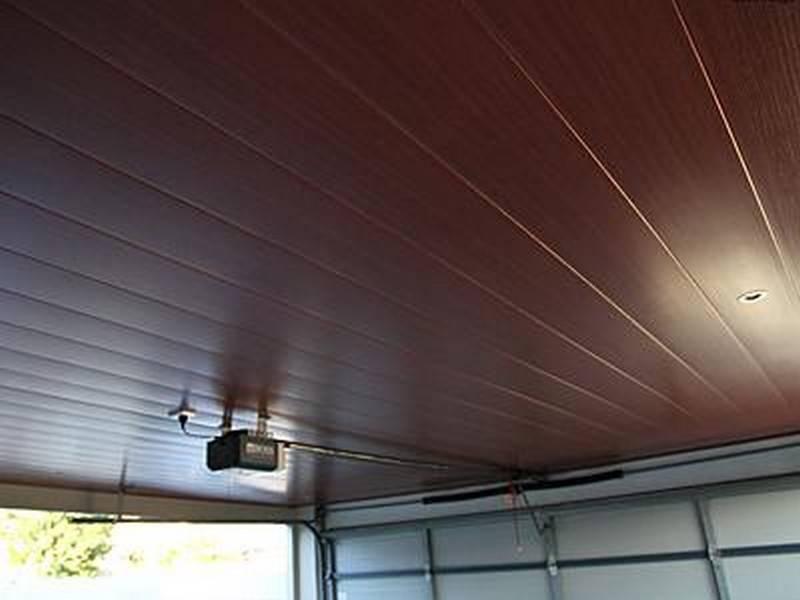 Чем обшить потолок в гараже, как сделать