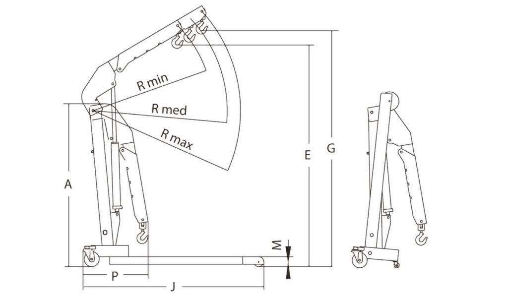 Кран для снятия двигателя своими руками, чертежи