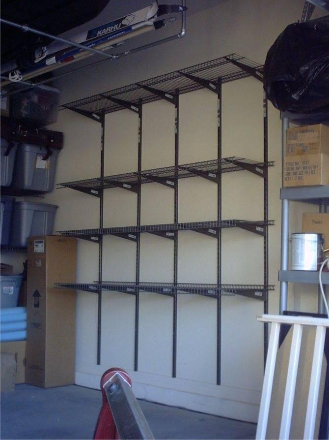 45 вариантов самодельных полок для гаража