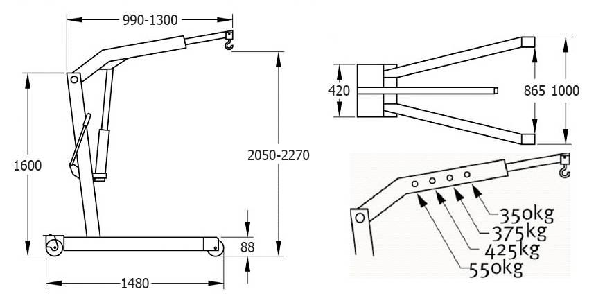 Инструкция по изготовлению гидравлического крана для снятия двигателя своими руками