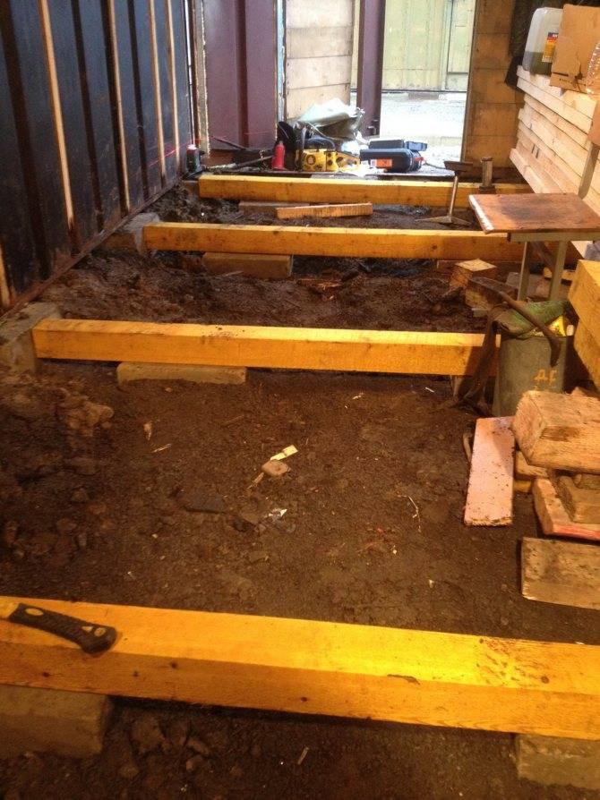 Деревянный пол в гараже из досок своими руками: чем покрыть и как сделать