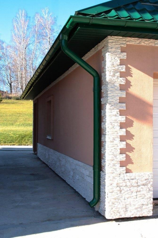 Чем обшить гараж снаружи самостоятельно: материалы для наружной отделки