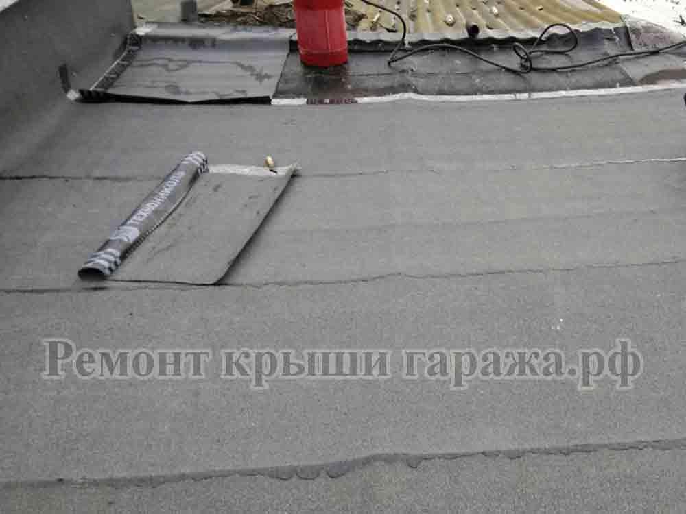 Ремонт крыши гаража: реставрация рубероидом, инструкция как сделать своими руками, видео и фото
