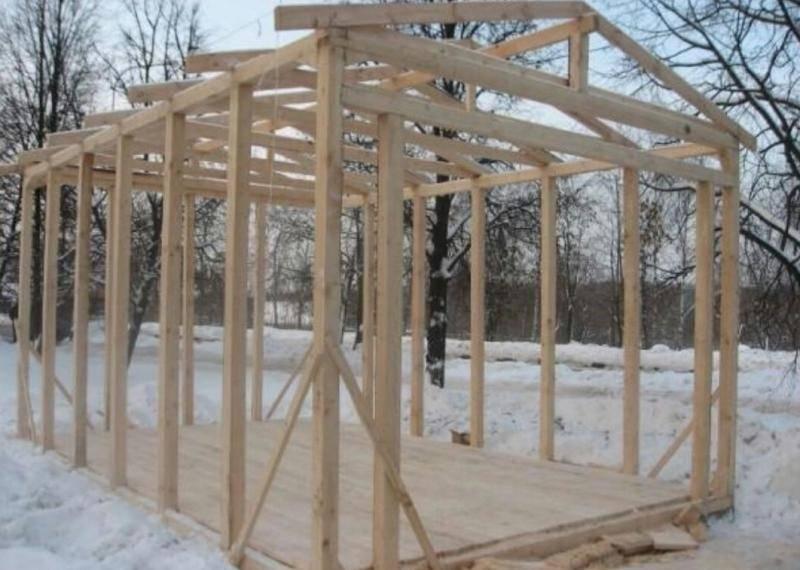 Каркасный гараж своими руками: бюджетное строительство