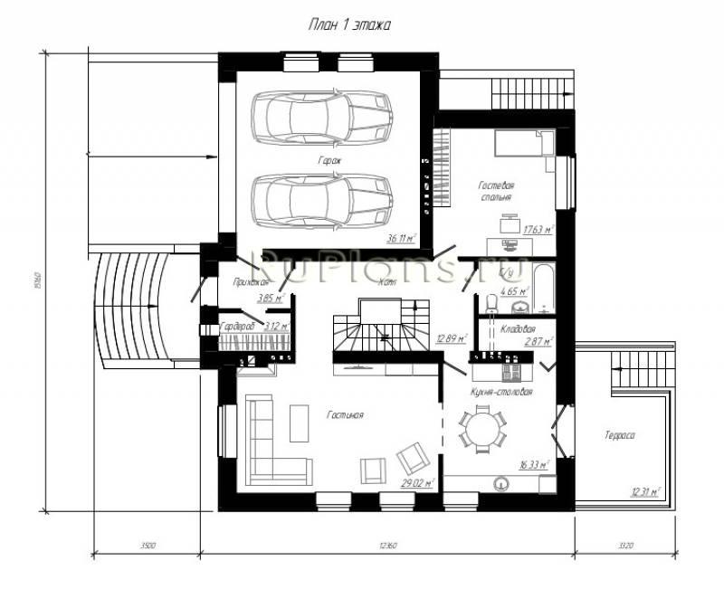 Проекты домов с цокольным этажом и гаражом: готовые и с нуля   погреб-подвал