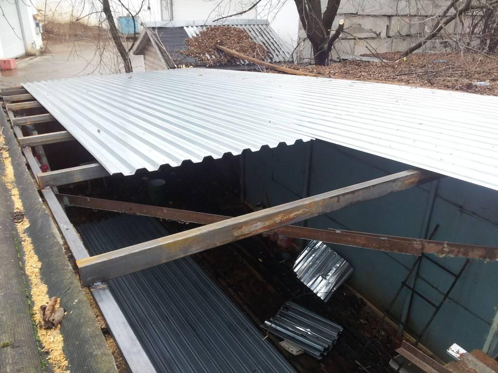 Строительство односкатной крыши для гаража своими руками