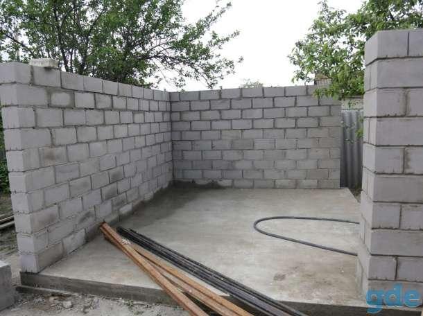 Гараж из керамзитобетонных блоков с фундаментом и односкатной крышей своими руками