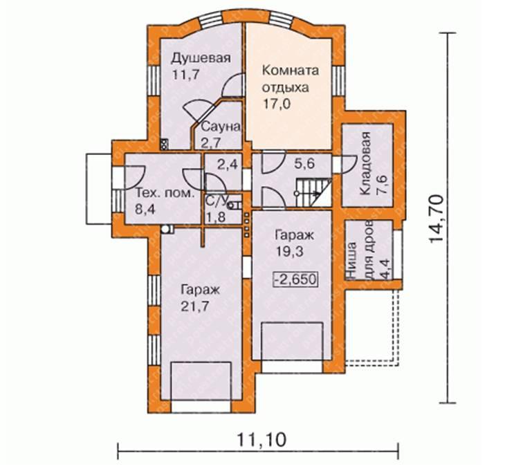 План цокольного этажа с гаражом в частном доме: виды и плюсы и минусы +фото и видео проекта