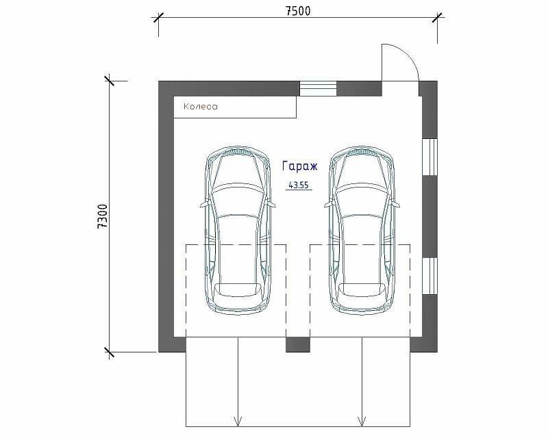 Габариты гаража на одну машину