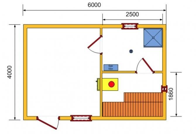 Строим баню в гараже