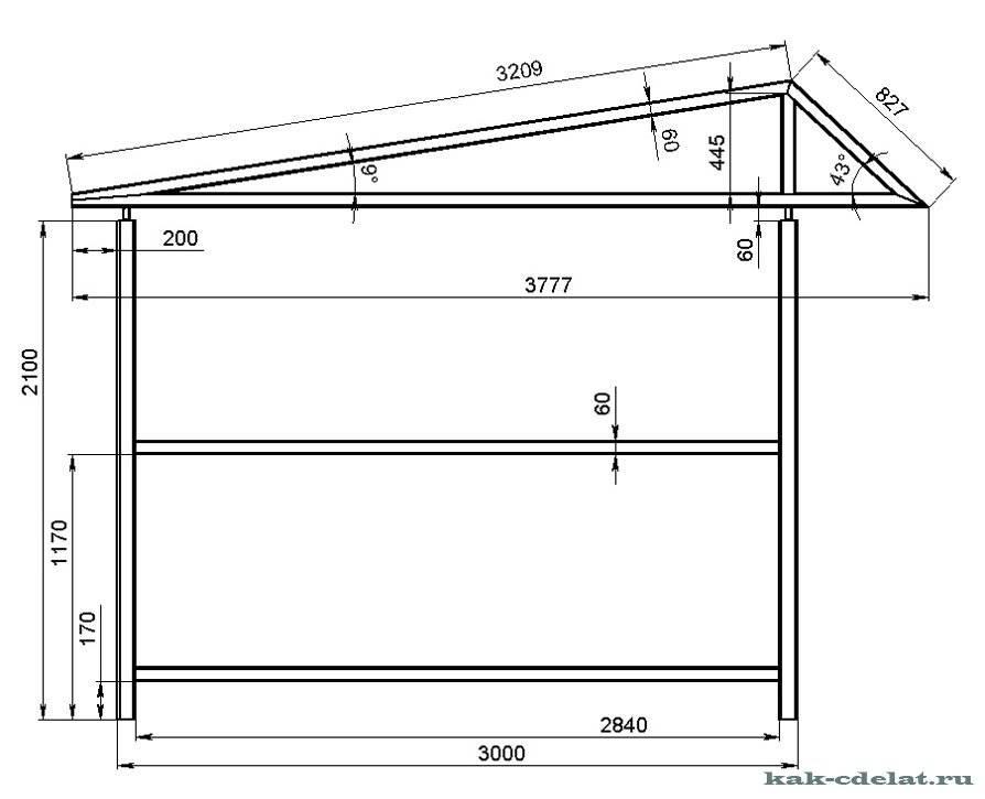 Как сделать каркасный гараж из металлопрофиля своими руками: чертежи, размеры