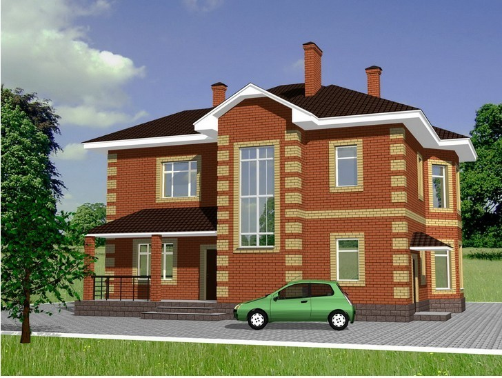 Интересные проекты домов из кирпича с гаражом – практичность и функциональность жилого здания
