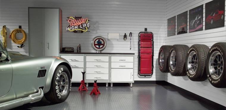 Дизайн гаража внутри частного дома