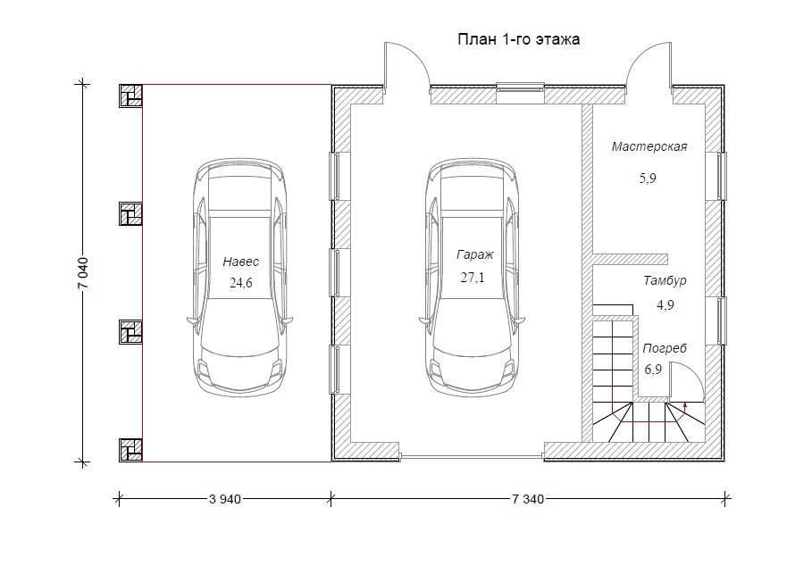 Как в гараже сделать подвал - лестница, освещение, вентиляция