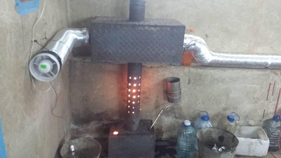 Масляная печка в гараж: разновидности, изготовление своими руками