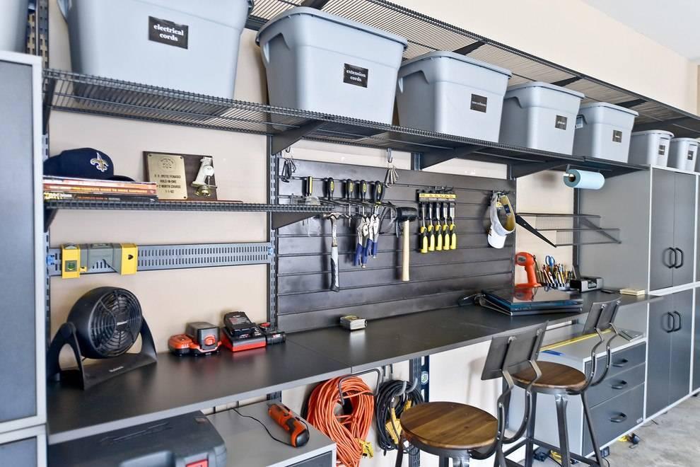 Обустройство, отделка гаража внутри: дизайны 6х4, планировка и балгоустройство, отделка красивого гаража в частном доме  - 33 фото
