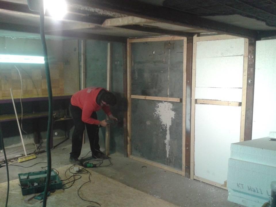 Утепление бетонного гаража изнутри своими руками