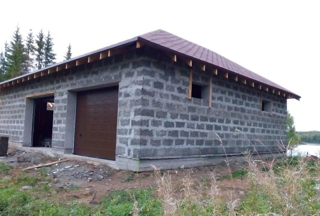 Гараж из керамзитобетонных блоков, строительство гараж из керамзитобетонных блоков своими руками