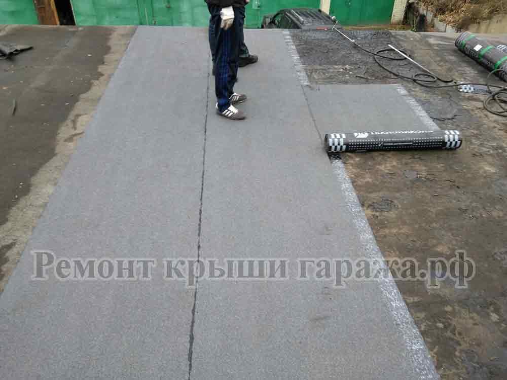 Как залить крышу гаража бетоном видео