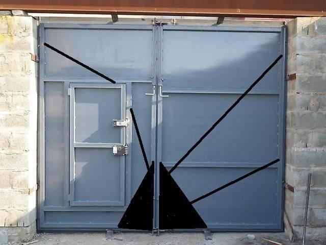 Гаражные ворота из профнастила своими руками: виды конструкции, как сделать с видео