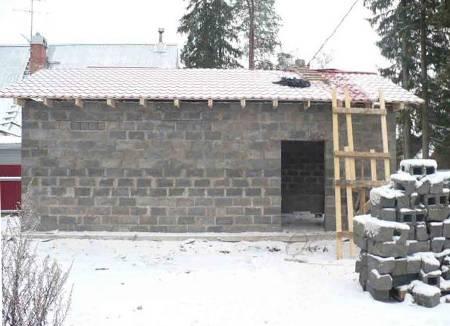 Постройка гаража из керамзитобетонных блоков — рассмотрим развернуто