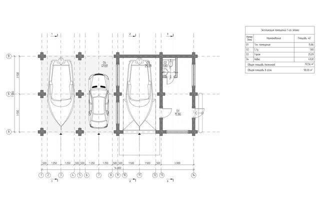 Проект и этапы постройки гаража на 3 машины своими руками