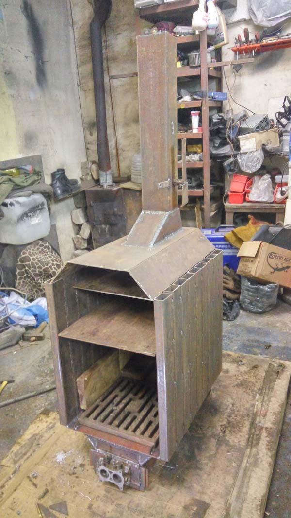 Отопительная печка своими руками для гаража