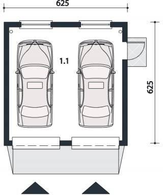 Размер гаража на 1-2 машины стандартный, минимальный :: syl.ru