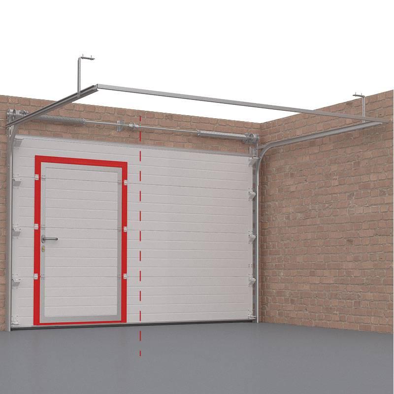 Гаражные ворота своими руками: как сделать из профиля и как поднять конструкцию в кирпичном гараже