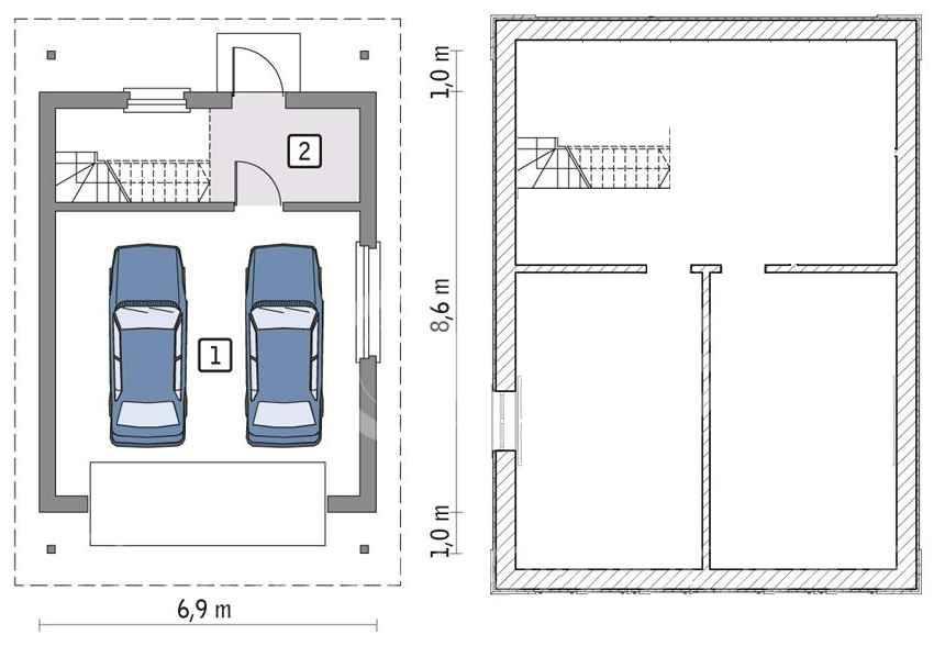 Проект одноэтажного + двухэтажного дома с гаражом и подвалом: схемы + фото + видео   погреб-подвал