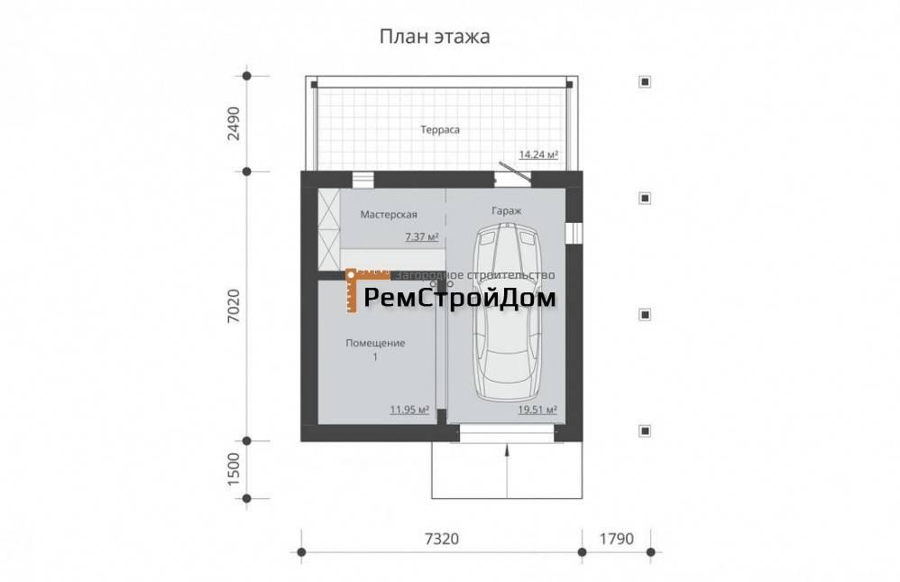 Двухэтажный гараж: как составить проект и построить своими руками