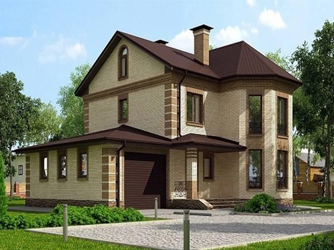 Проекты домов из кирпича с гаражом: видео-инструкция по монтажу своими руками, фото и цена