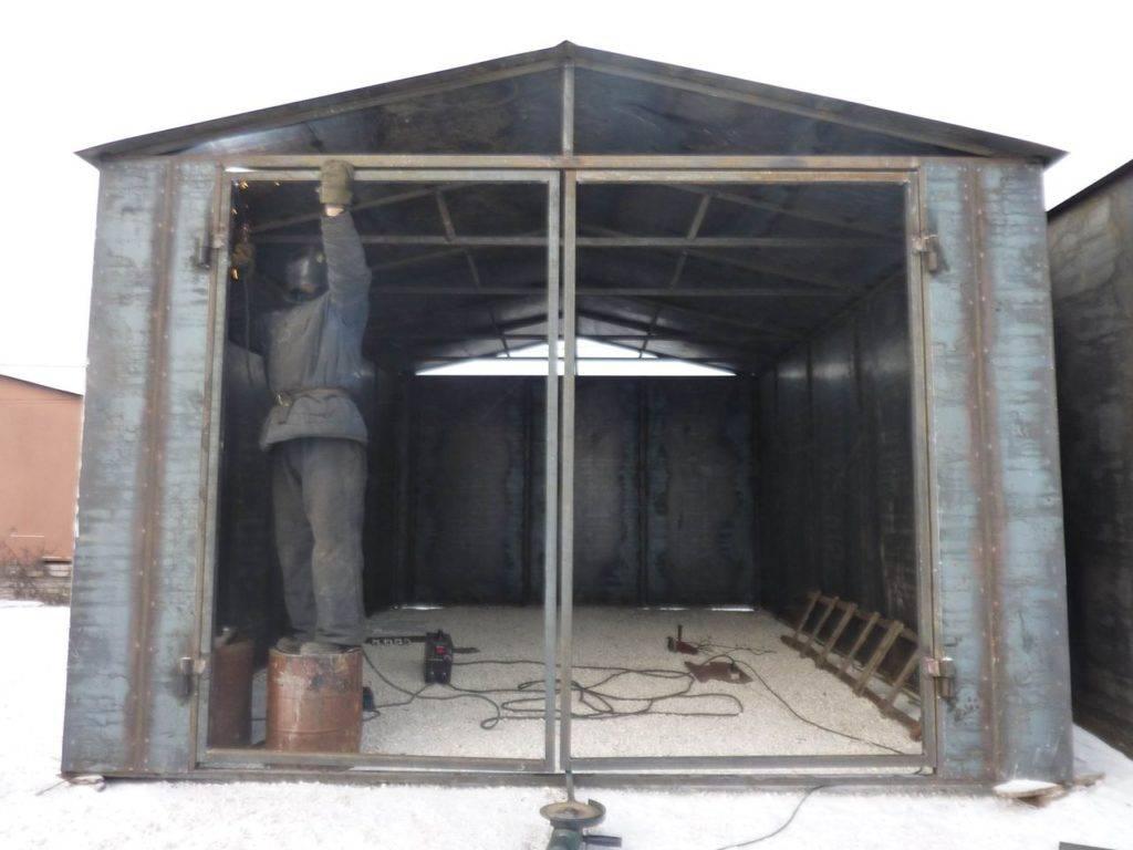 Сварной гараж: как построить правильно