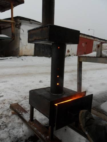 Печка для гаража на отработке: устройство, принцип действия