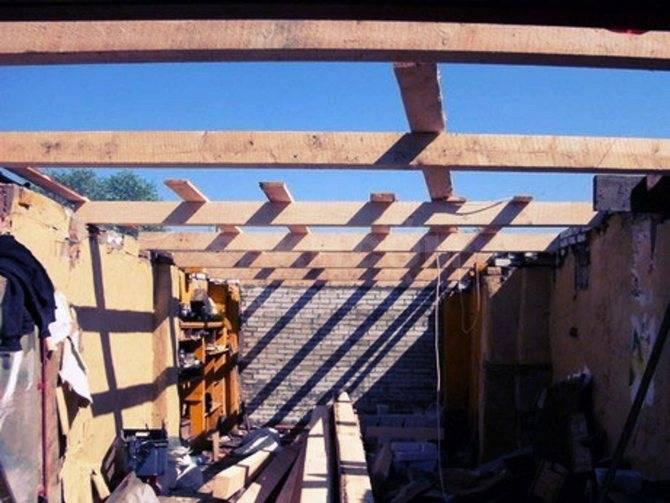 Как сделать односкатную крышу на гараже: стропильная система каркасного деревянного гаража, как построить, чертеж стропил кровли