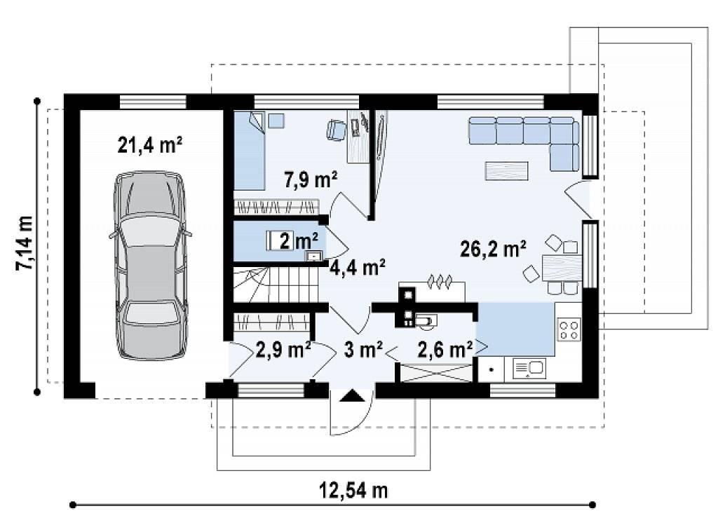 Где взять проект дома с гаражом и мансардой бесплатно
