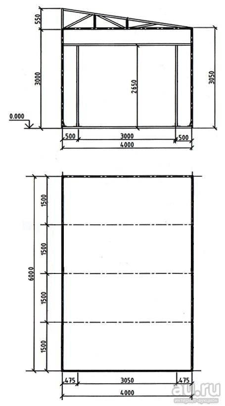 Как построить гараж из металлопрофиля своими руками— инструкция и чертежи
